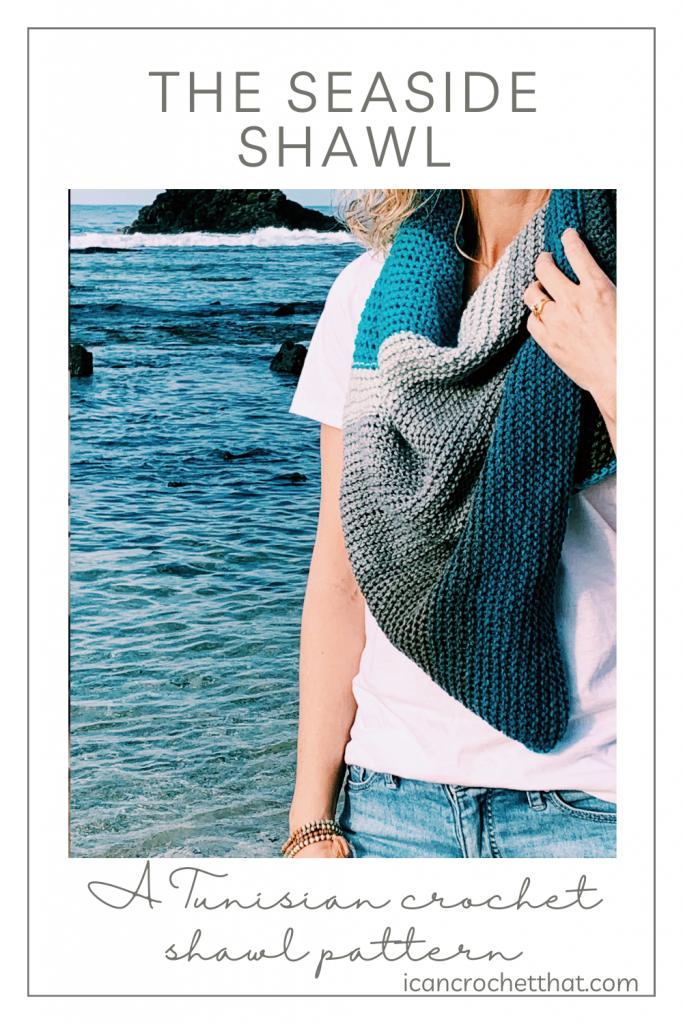 easy tunisian crochet shawl pattern