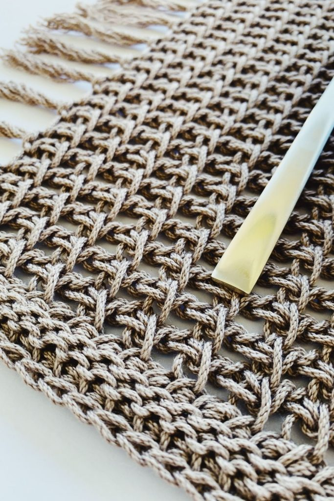easy crochet placemat pattern