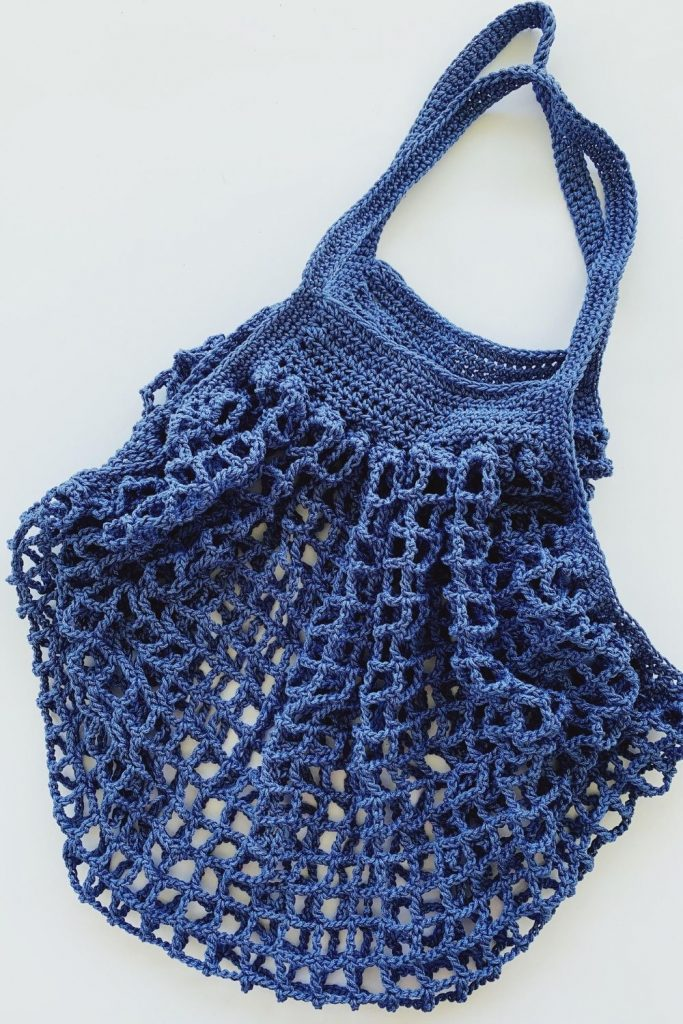 homemade crochet market bag