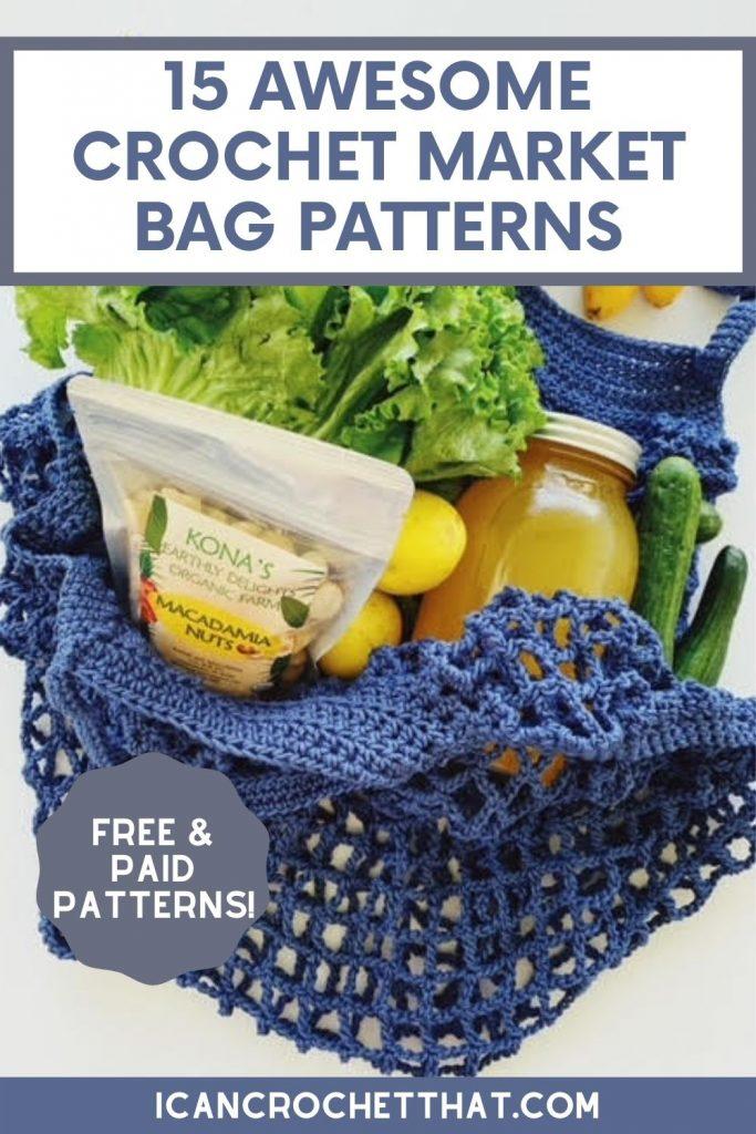 awesome crochet market bag patterns