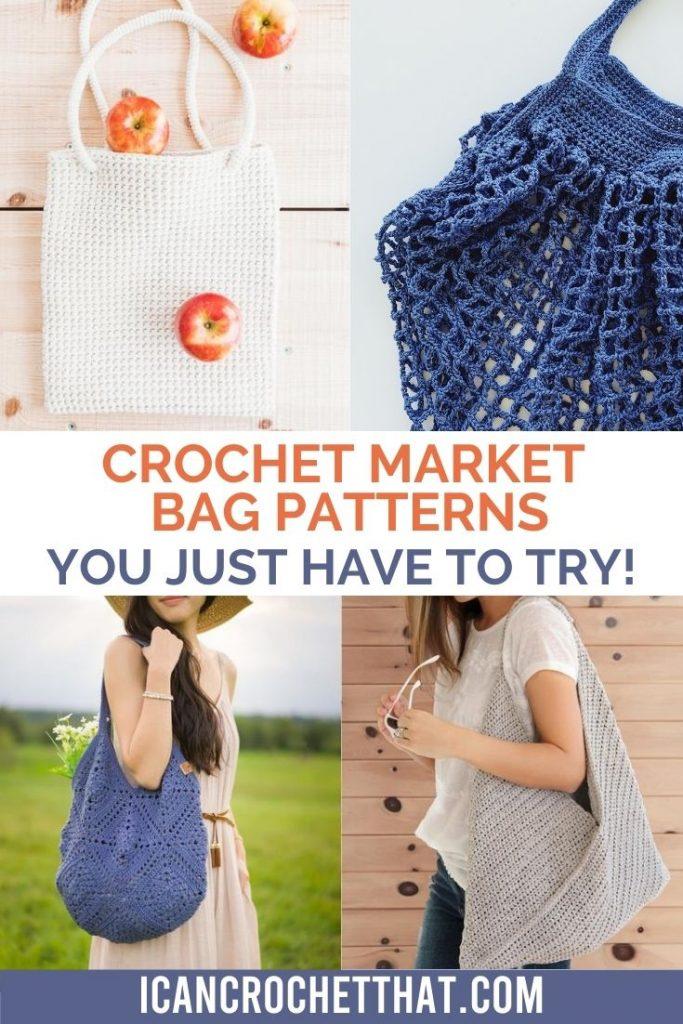 roundup of crochet market bag patterns for makers