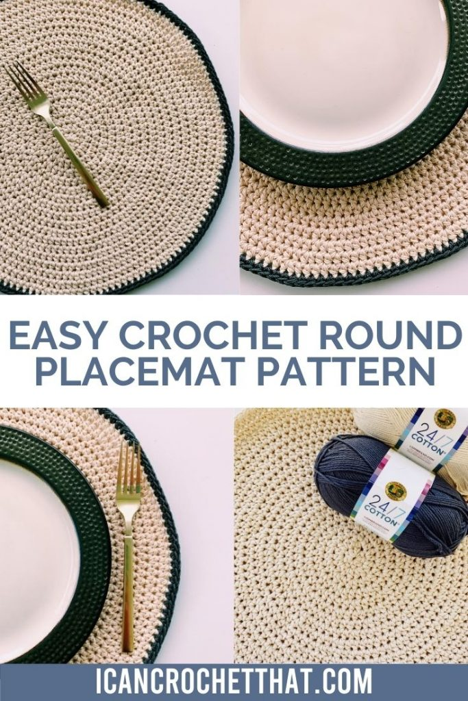 easy and free crochet round placemat pattern