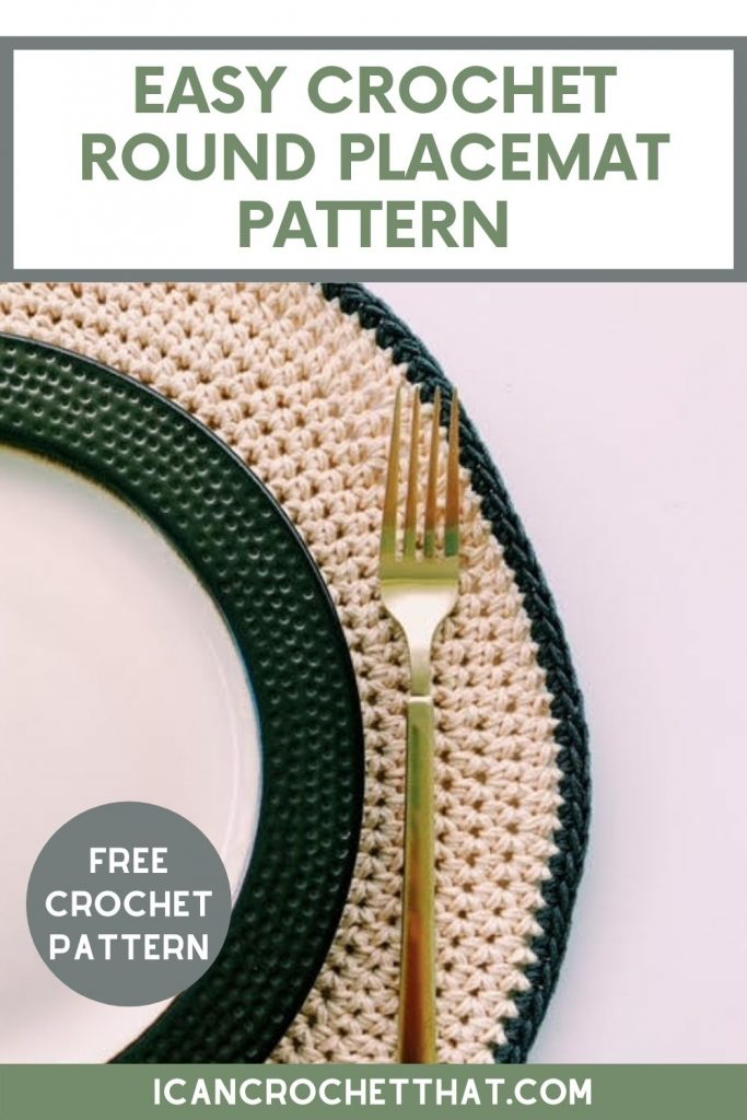 crochet round placemats free pattern easy
