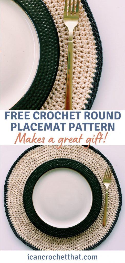 crochet placemat pattern free