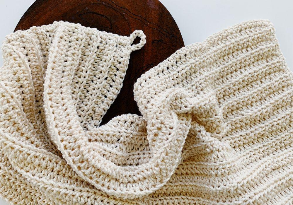 modern crochet dishcloth