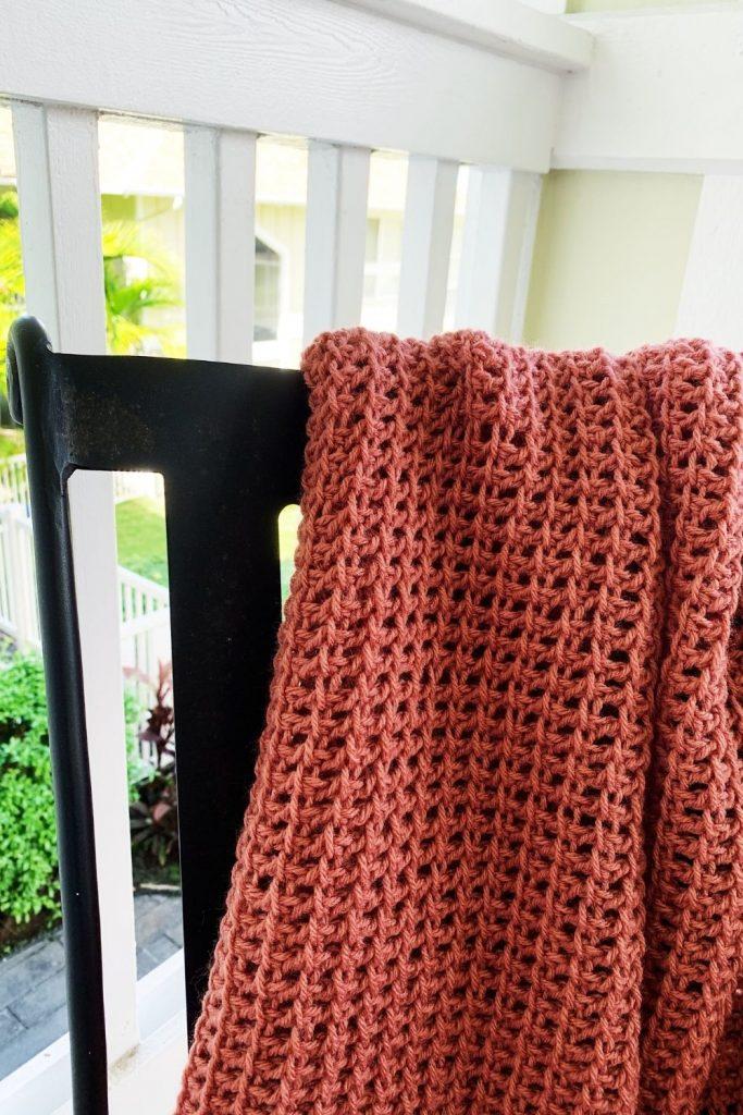 Tunisian crochet throw pattern