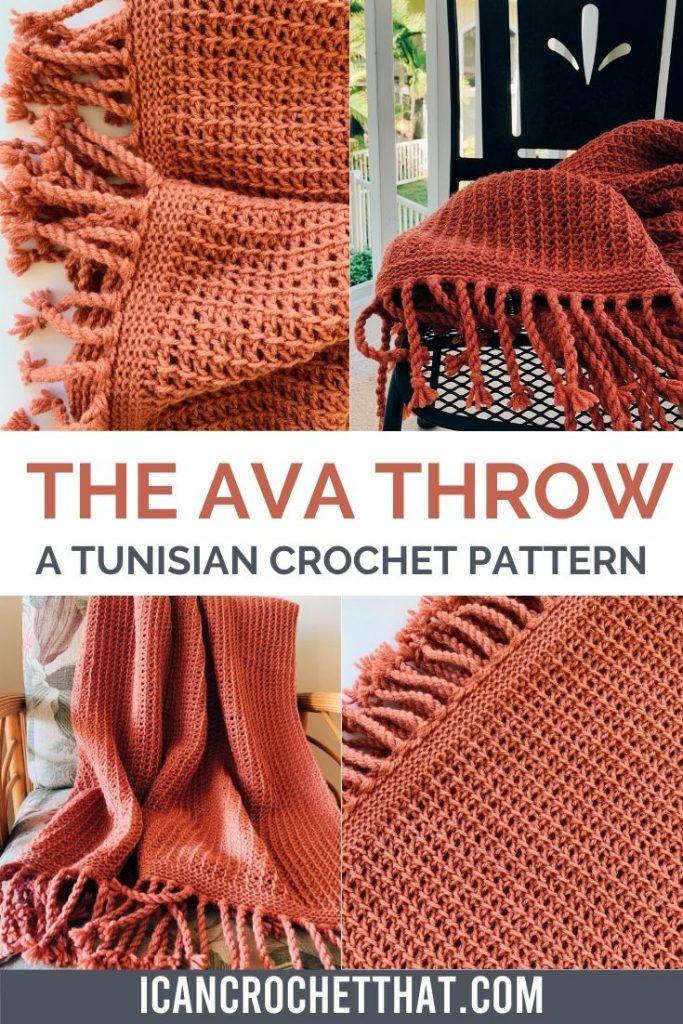 The Ava Throw Tunisian Crochet Pattern
