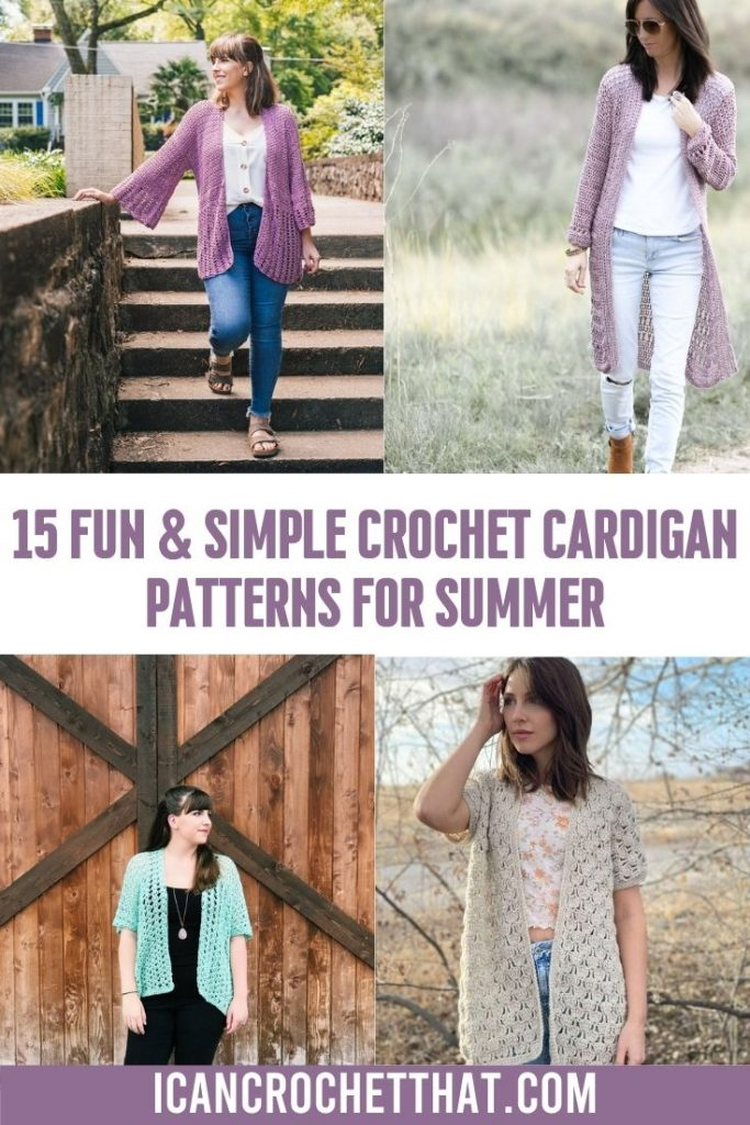 collection of spring and summer crochet cardigan patterns