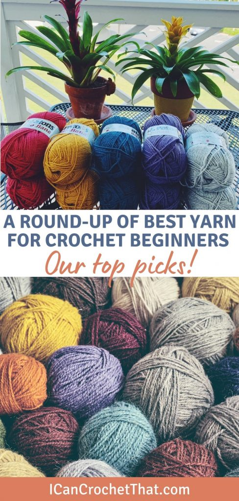 a round up of the best yarns for crochet beginners