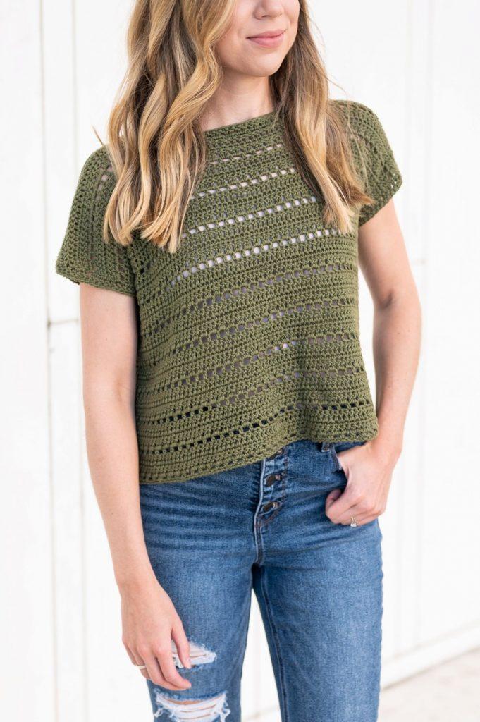 box top crochet shirt pattern