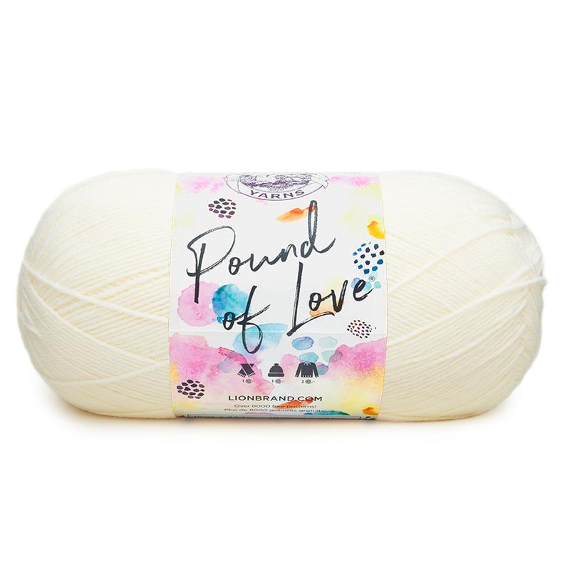 Lion Brand Pound of Love is great for beginner crocheters