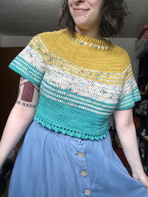 crochet crop top pattern ravelry