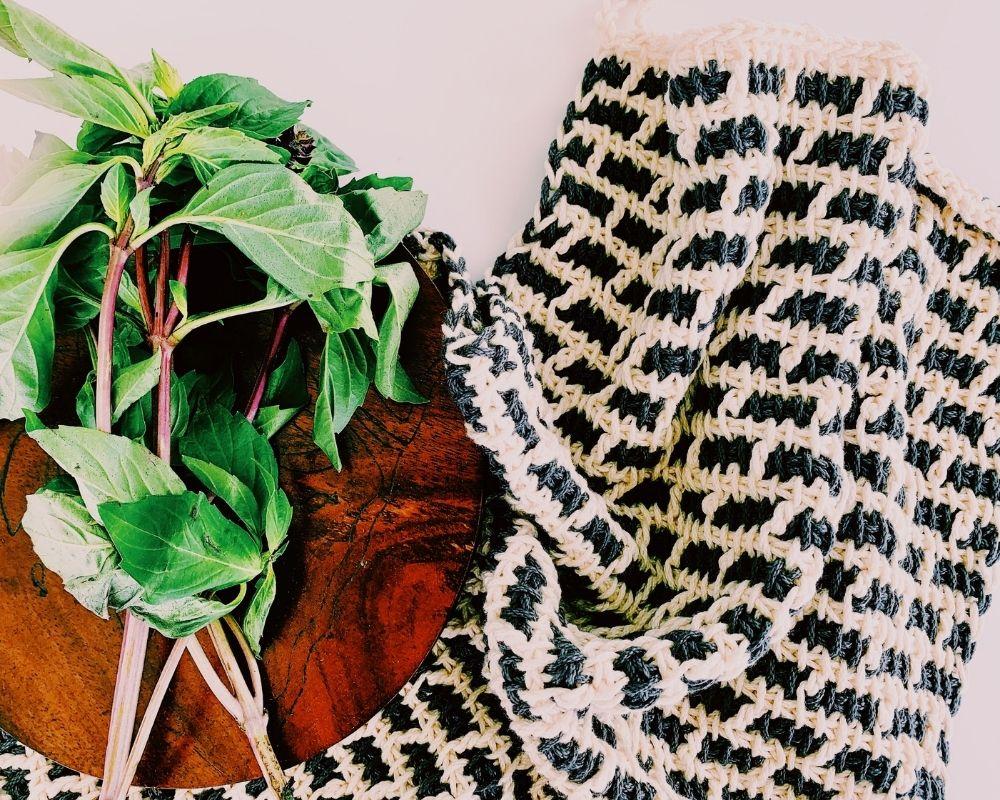 tunisian crochet kitchen towel pattern free