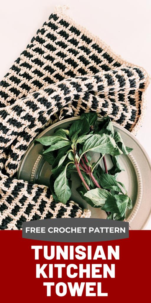 free tunisian crochet kitchen towel pattern