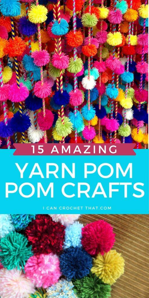 diy yarn pom pom crafts