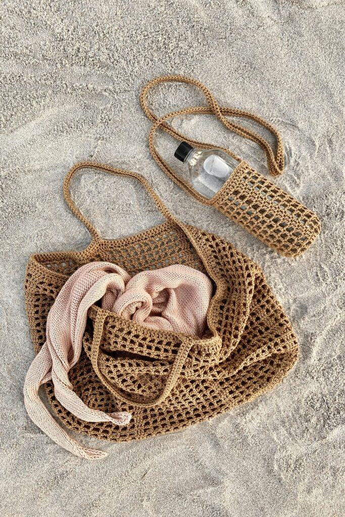 crochet beach bags