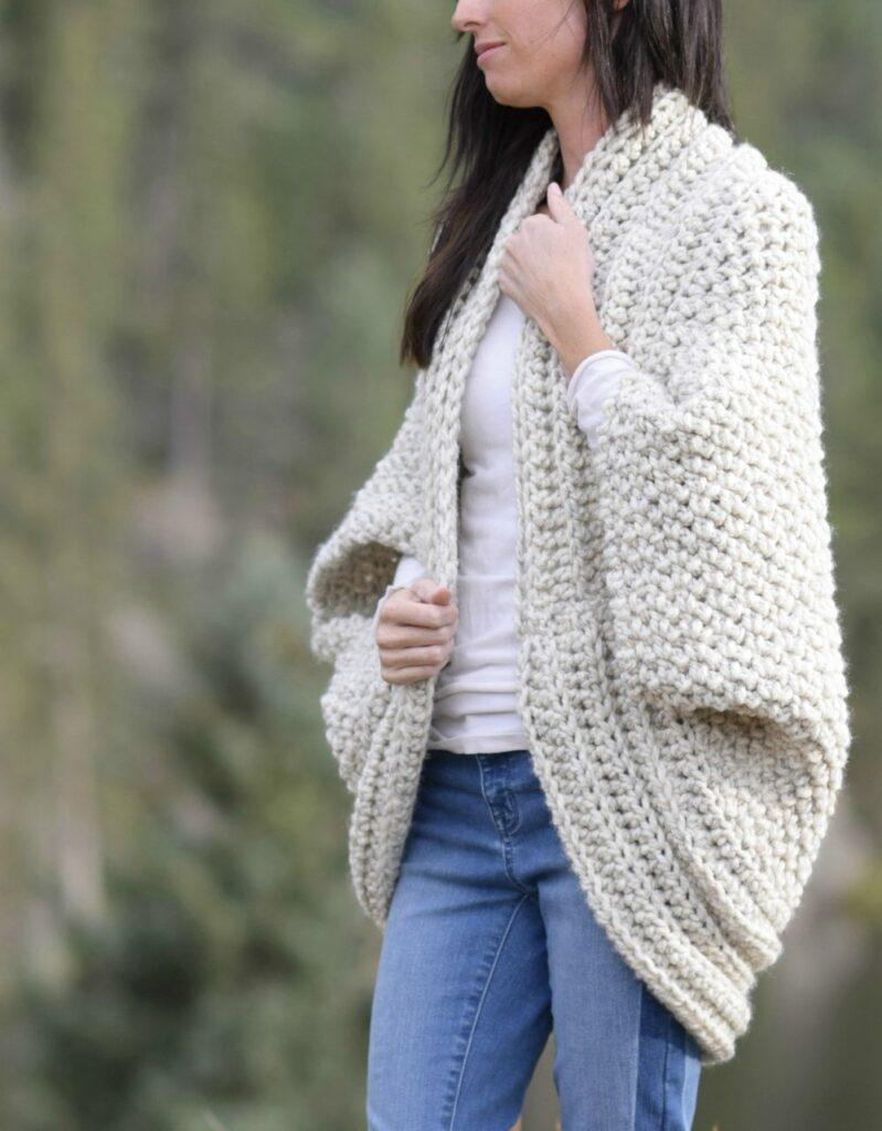 cozy crochet blanket cardigan pattern