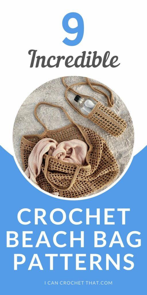 round up of 9 crochet beach bag patterns