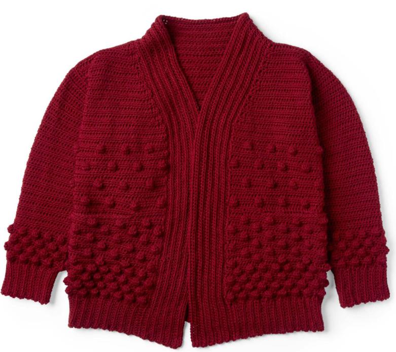 holiday crochet cardigan pattern from yarnspirations