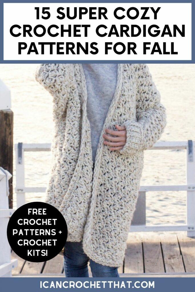 cozy crochet cardigan patterns free