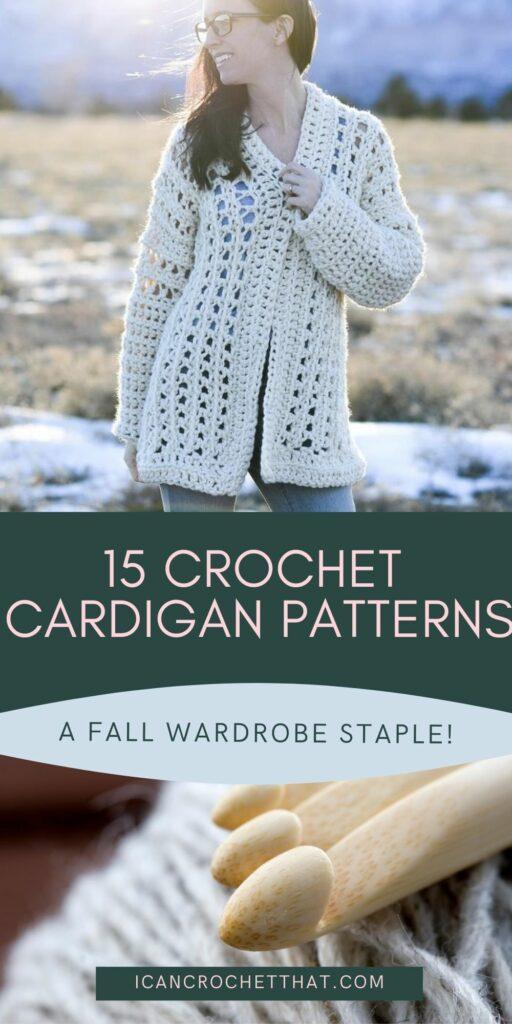 15 crochet cardigan patterns for fall