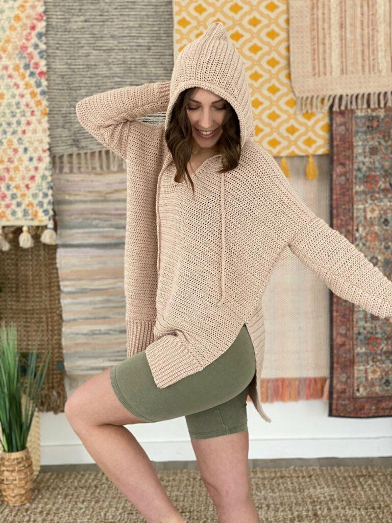 Happy at home crochet hoodie pattern
