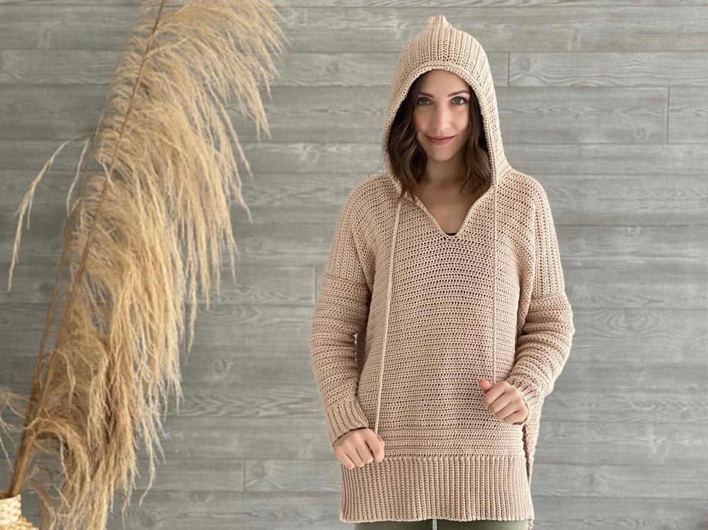 E and P crochet hoodie pattern