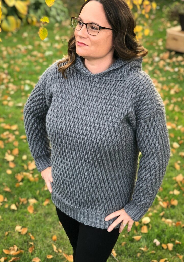 endless texture crochet hoodie pattern