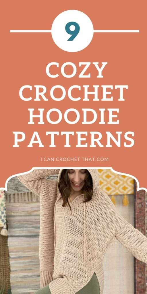 a round up of crochet hoodie patterns to make