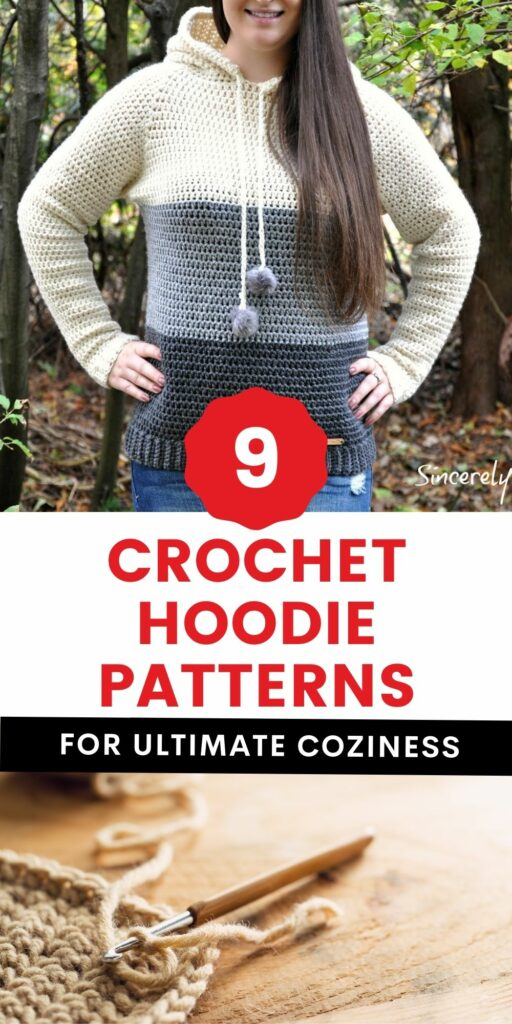 9 crochet hoodie patterns free and paid