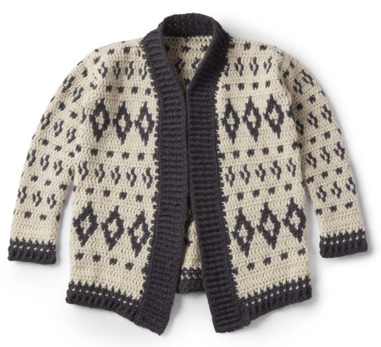 nordic crochet cardigan pattern yarnspirations