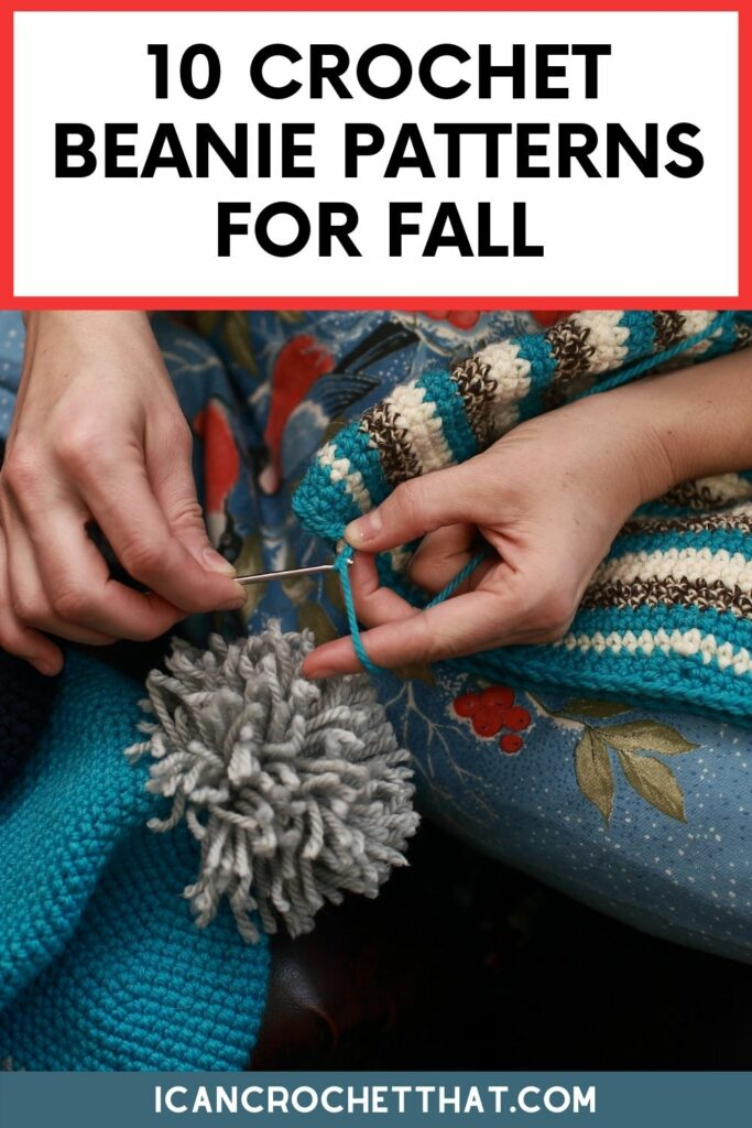 a round-up of crochet beanie patterns for fall
