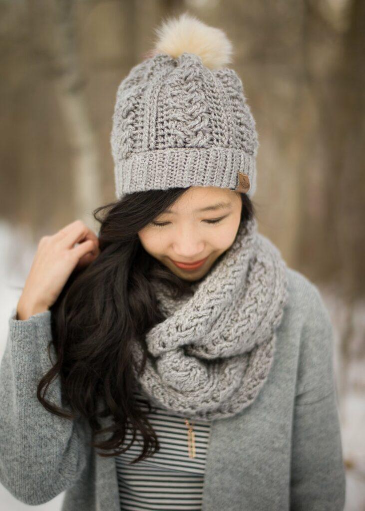 braided cable crochet beanie kit
