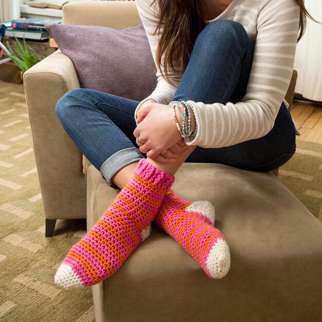 cozy at home crochet sock pattern