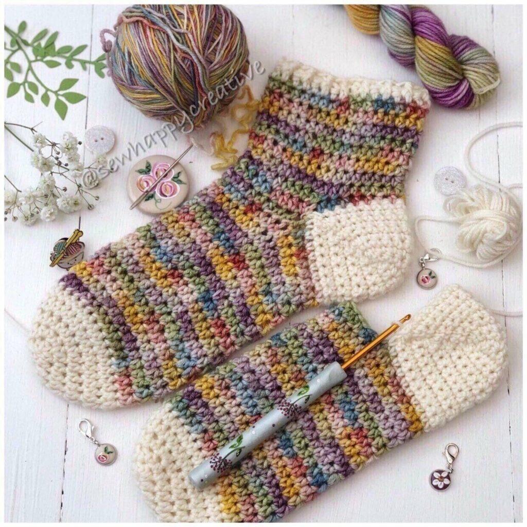 duvet days crochet sock pattern