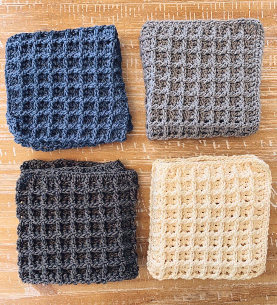 All-purpose crochet waffle stitch dishcloth