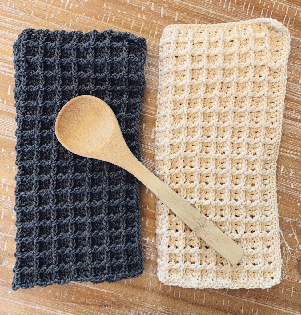 free crochet dishcloth pattern waffle stitch