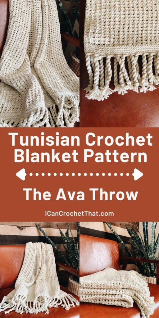 easy tunisian crochet blanket pattern