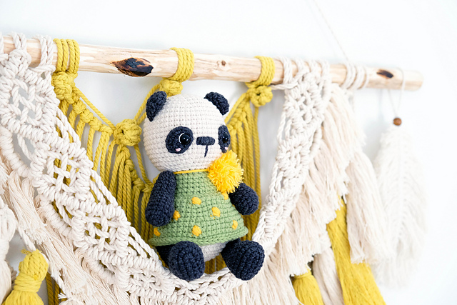 crochet panda bear pattern