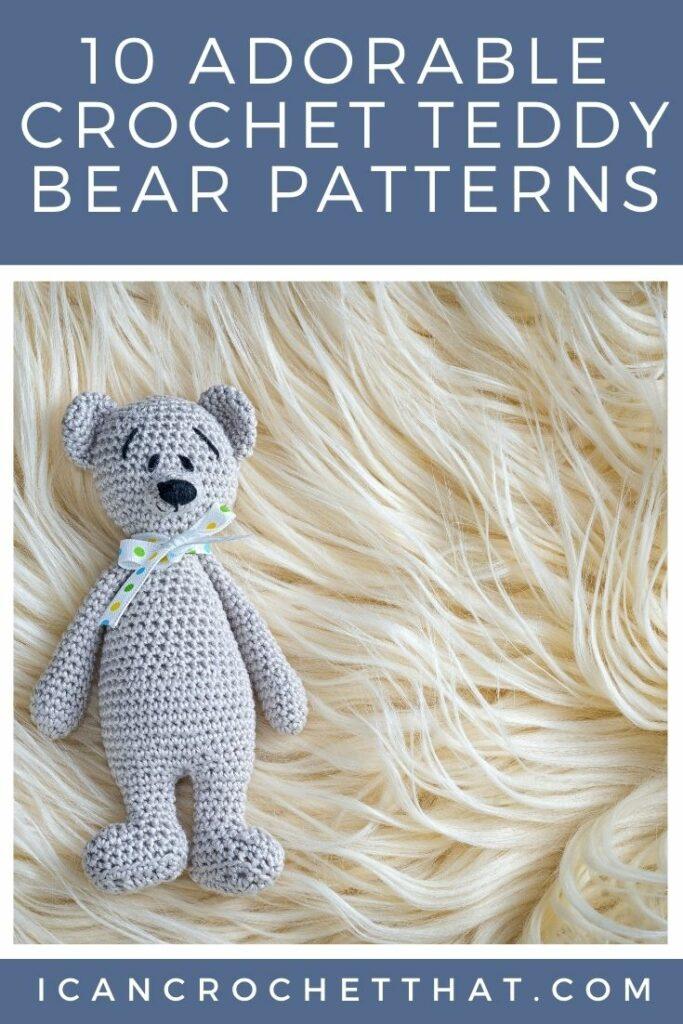 crochet teddy bear pattern round up