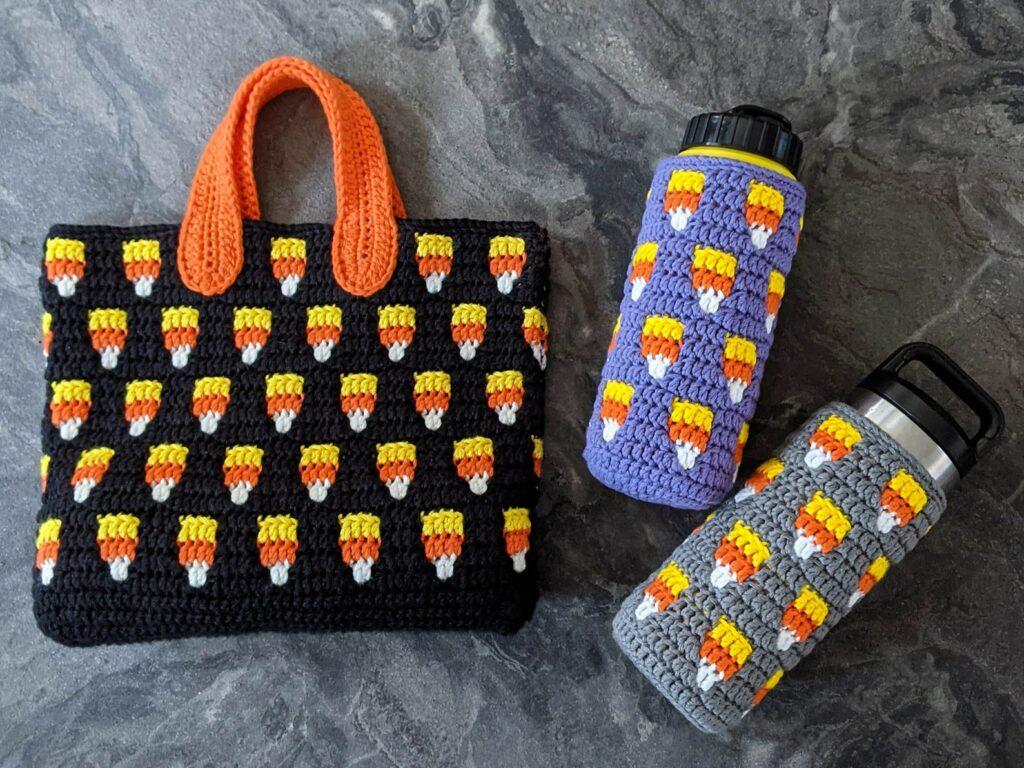 crochet candy corn mosaic pattern