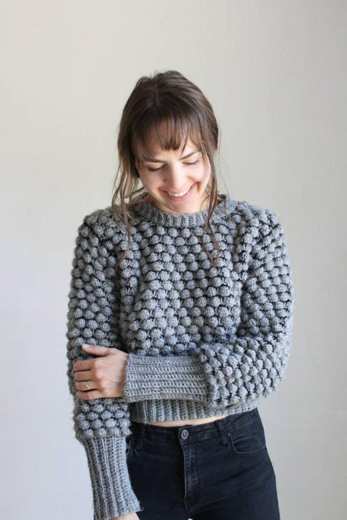 bobble crochet sweater pattern kay crochets