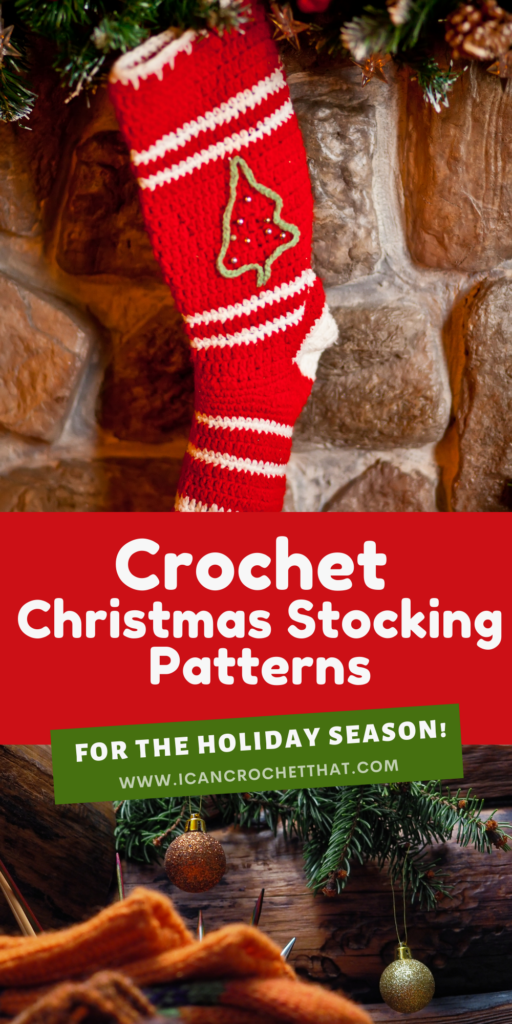 round up of crochet christmas stocking patterns