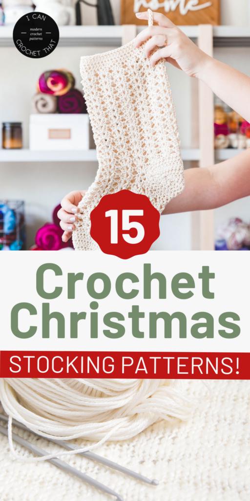 crochet christmas stocking pattern round up
