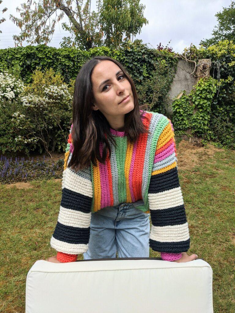 striped crochet sweater pattern