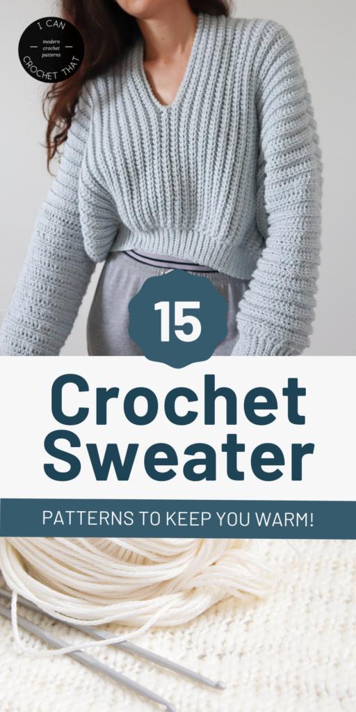 crochet sweater patterns I Can Crochet That