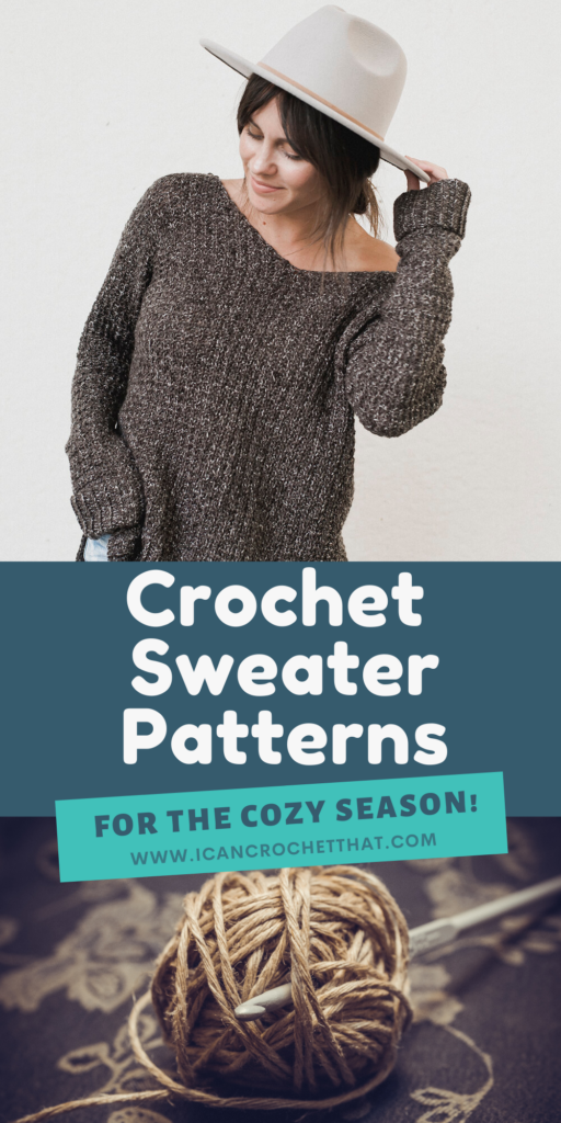 crochet sweater pattern round up